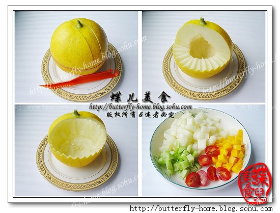 水果花篮(水果拼盘-水果切法)的做法步骤