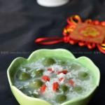 酒酿抹茶小丸子(新春年夜饭后的清新小甜点)