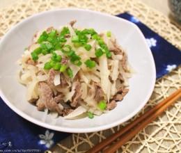 萝卜丝炒牛肉