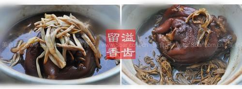 黄花菜团圆蹄膀