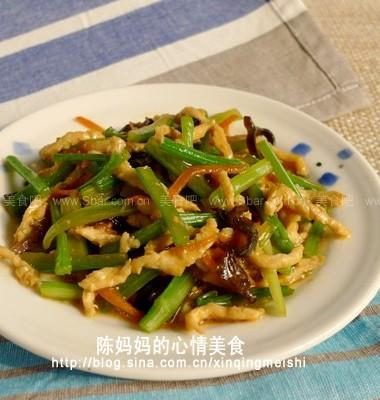 芹菜炒鸡丝