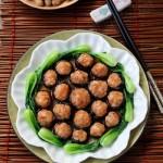 鲜虾百花酿冬菇(春节年菜)
