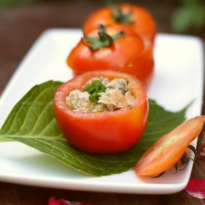 微波西红柿肉盏