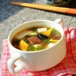 鸭血豆腐羹(冬季雾霾天气,清肺滋补汤羹)
