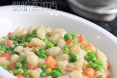 鲜豌豆炒鱼丁