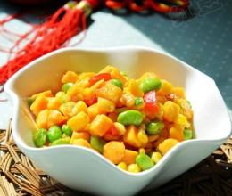 红薯丁炒玉米