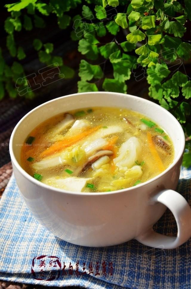 大白菜三丝豆腐汤