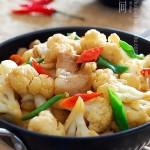 香辣干锅花菜(农家风味家常下饭菜)