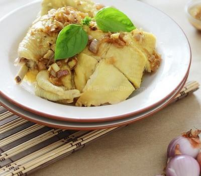 红葱头鸡(客家菜)