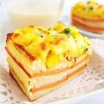 玉米火腿三明治(早餐菜譜)