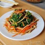 野生荠菜拌豆干(春季菜谱)