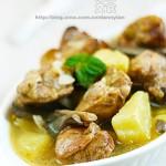鸡腿炖蘑菇(东北菜)