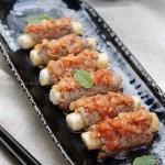 泡菜年糕牛肉卷(单身菜谱)