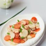 北极虾仁炒山药 (海鲜菜)