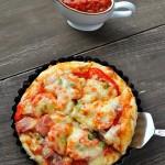 厚底鲜虾培根披萨(烘培菜谱)