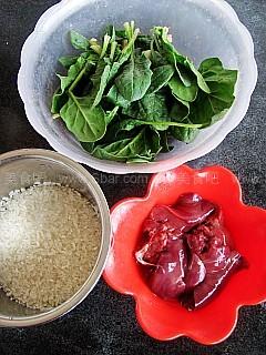 鸡肝菠菜粥