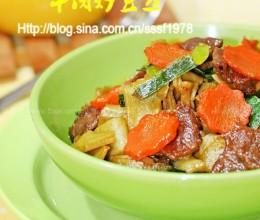 牛肉炒豆丝