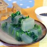 菠菜肉皮冻(凉菜)