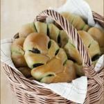 叶形抹茶红豆包(烘培菜谱)
