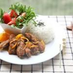 橙香排骨(夏天的一道清香开胃肉菜)