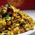 榨菜黄豆芽炒肉丁(荤素搭配)