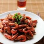油爆河虾(河鲜菜谱)