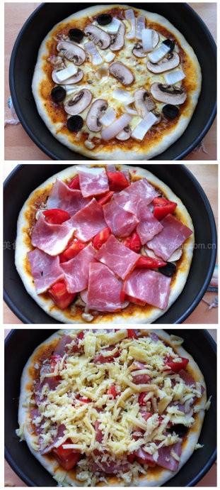 培根蘑菇比萨