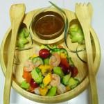 芒果大蝦油醋汁沙拉的做法