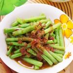 豆瓣酱炒豇豆(素菜)