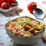西红柿鸡蛋炒面片(早餐菜谱)