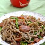 腊肉炒筱面(西北风味的民间美食)