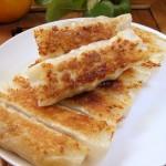 芋头香葱猪肉锅贴(早餐菜谱)