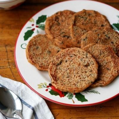 梅干菜豆渣煎饼&豆浆稀饭