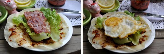培根鸡蛋卷饼的做法