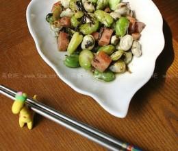 橄榄菜炒蚕豆的做法
