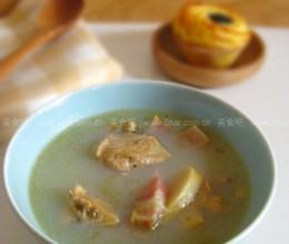 河蚌咸肉竹笋汤