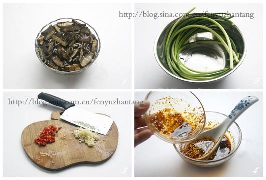 凉拌金茸蒜苔