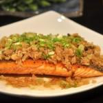 梅菜蒸三文鱼的做法
