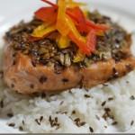 香煎亚麻籽鲑鱼(中考高考菜谱-可以使考生精力充沛)