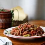 野山椒炒牛肉丝的做法
