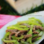 牛肉青笋丝(高考菜谱--为高考生增强体能的快手营养菜)