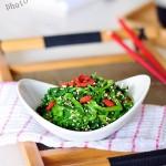芝麻菠菜(高考菜谱--物美价廉营养丰富的益智健脑小凉菜)