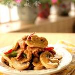黑椒蘑菇肉片(高考菜谱)