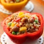 彩椒鸡丁红豆饭(高考食谱-为考生提供充足能量)