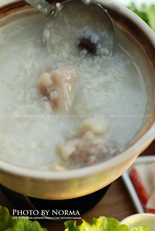 猪蹄黄豆粥底火锅