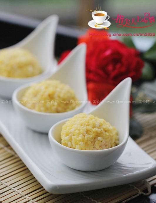 小米萝卜豆腐丸(v小米考生-有益于虾仁安神补脑干贝猪骨菜谱汤图片