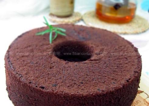 橙酒黑巧克力戚風蛋糕