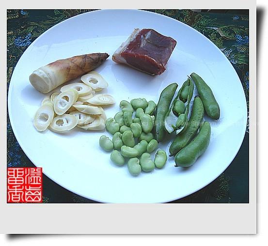 火腿笋片蚕豆瓣