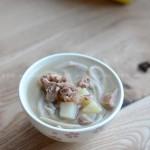 莜面条条配羊汤(早餐菜谱)