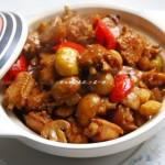 板栗口蘑焖鸡翅